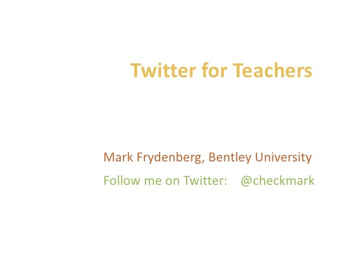 Twitter Presentation York