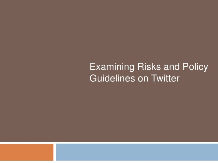 Examining Risks and Policy Guidelines on Twitter<br />