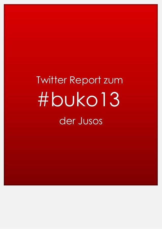 Twitter Report zum  #buko13 der Jusos
