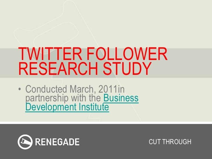 Twitter Follower Study