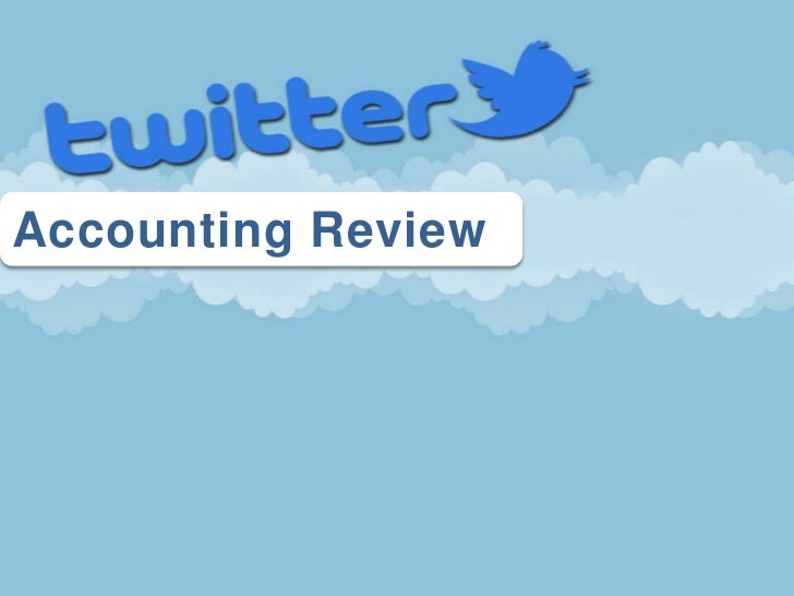 Twitter Accounting Review PowerPoint Game