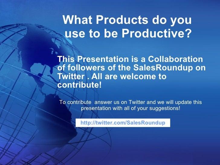 Twitter Sales Productivity