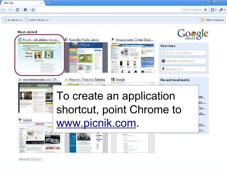 Creating an Application Shortcut