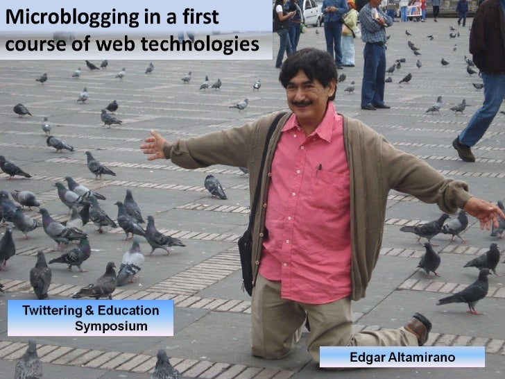 Microblogging in a first cours on web technologies