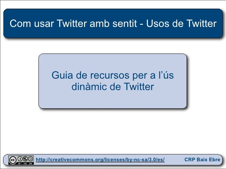 Twitter usos crpbe