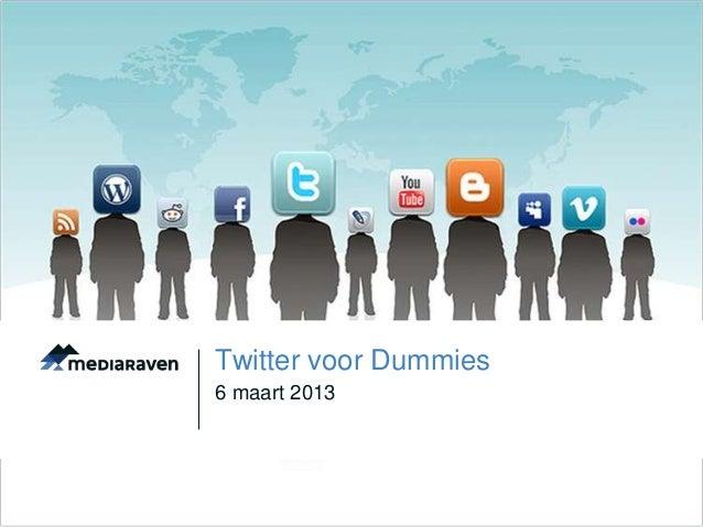 Twitter voor dummies