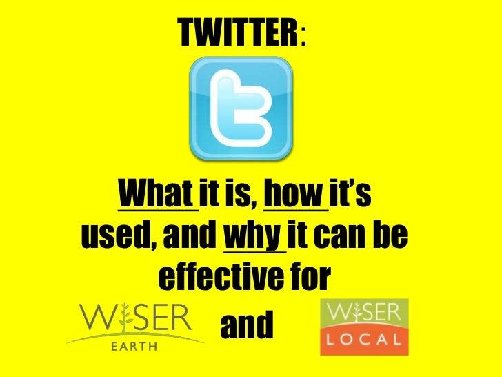 Twitter webinar