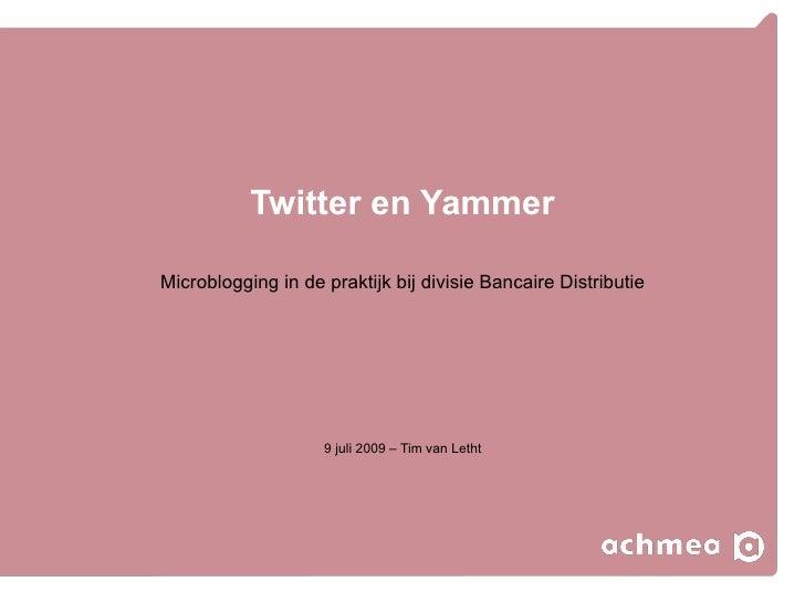 Twitter en Yammer