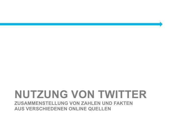 Fakten der Twitter Studien im Vergleich