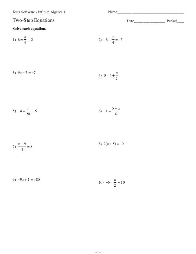 math worksheet : multi step equation worksheet kuta  multi step equations  : Multiple Step Equations Worksheet