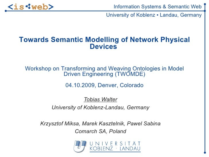 Towards Semantic Modeling of Network Physical Devices