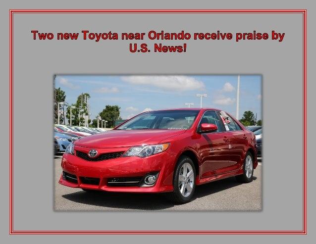 Two new Toyota near Orlando receive praise by U.S. News!