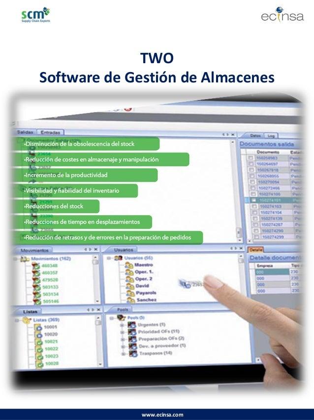 www.ecinsa.com  TWO  Software de Gestión de Almacenes