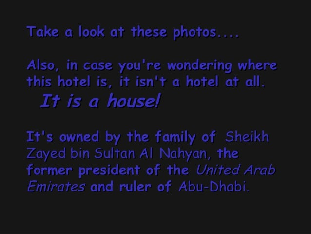 Take a look at these photos....Also, in case youre wondering wherethis hotel is, it isnt a hotel at all.It is a house!...