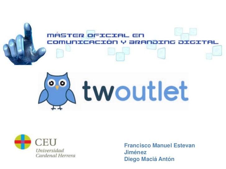 Twoutlet - TFM Digitalceu by Fran Estevan & Diego Maciá