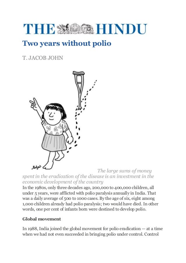 Two years without polio_article form THE HINDU