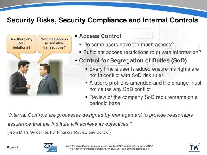 internal controls for infromation security Information technology internal audit report  observation observed the application or existence of specific controls as  (information security awareness,.