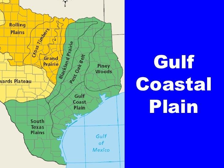 gulf coastal plain map