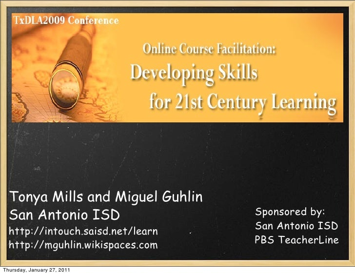Tonya Mills and Miguel Guhlin  San Antonio ISD                  Sponsored by:                                   San Antoni...