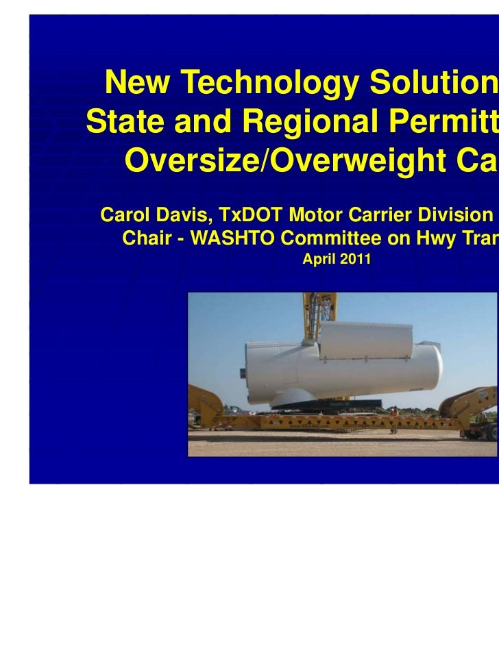 •New Approaches for State and Regional Permitting