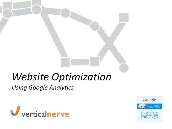 Website Optimization Using Google Analytics