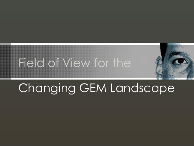 Field of View for the Changing Graduate Enrollment Management Landscape