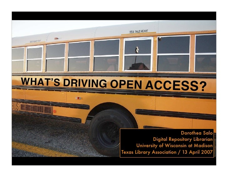 What's Driving Open Access?