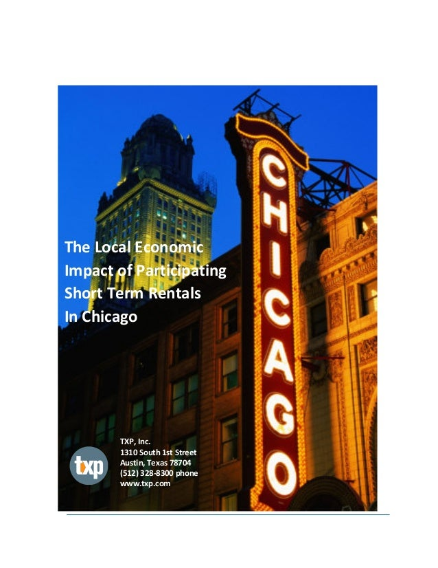 The Local Economic Impact of Participating Short-Term Rentals in Chicago
