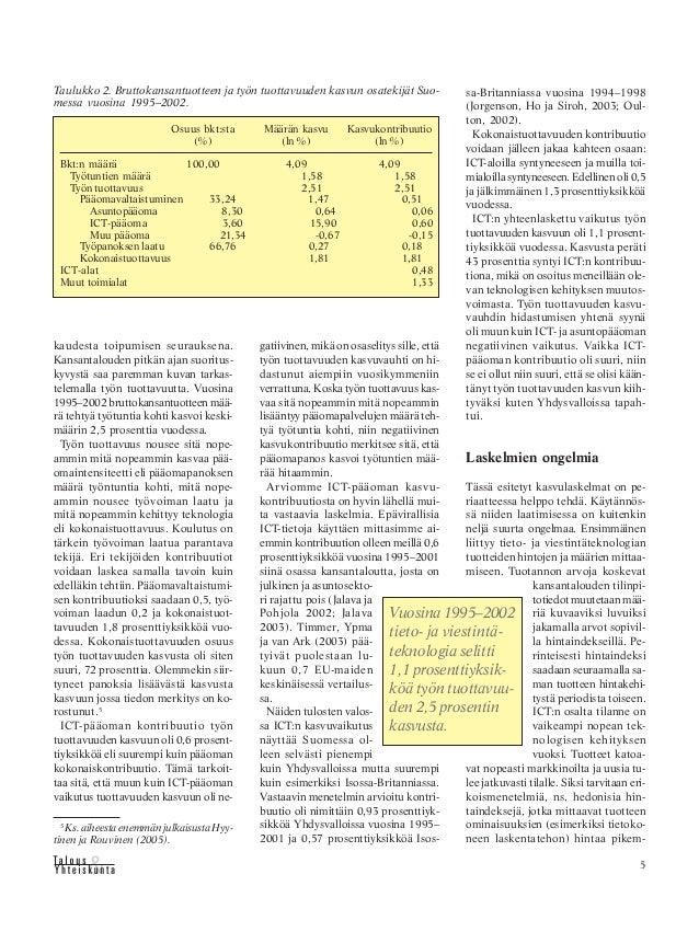 Talous ja Yhteiskunta 1 2006