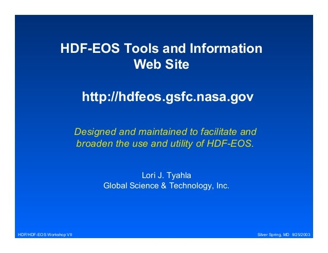 HDF-EOS Tools and Information Web Site