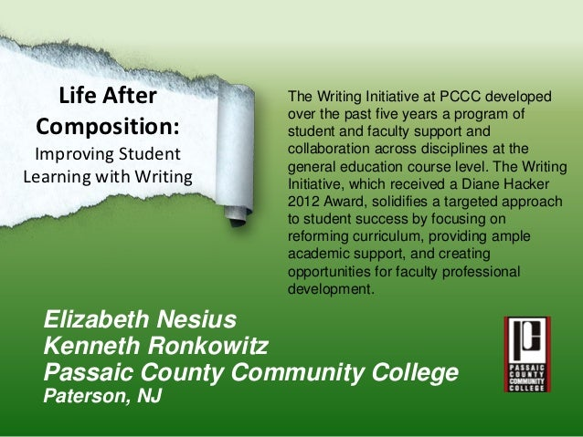 Life After           The Writing Initiative at PCCC developed                        over the past five years a program of...