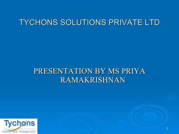 Tychons Presentation