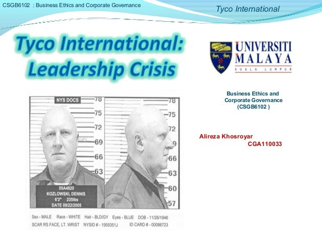 tyco international a case of corporate malfeaseance 53 filas a corporate collapse typically involves the insolvency  court case where allegations were made by ex-employees that the  tyco international,.