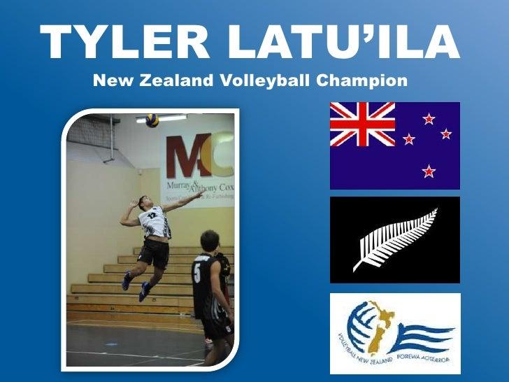 TYLER LATU'ILA New Zealand Volleyball Champion