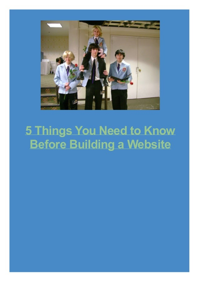 5 Things You Need to Know Before Building a Website