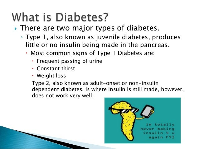 a look at the two major types of diabetes