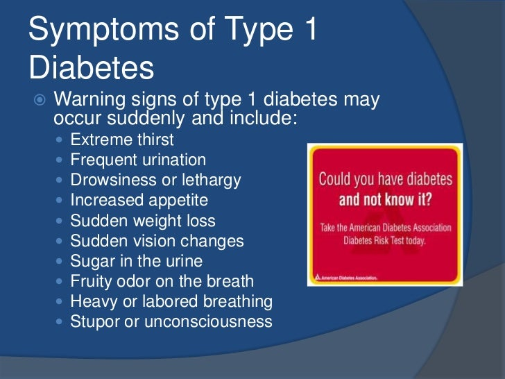 the two types of diabetes and their causes Type 2 diabetes can sneak up on you many people don't know they have it  because symptoms usually develop slowly over time but there are.