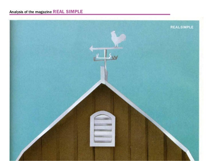 Analysis of the magazine   REAL SIMPLE