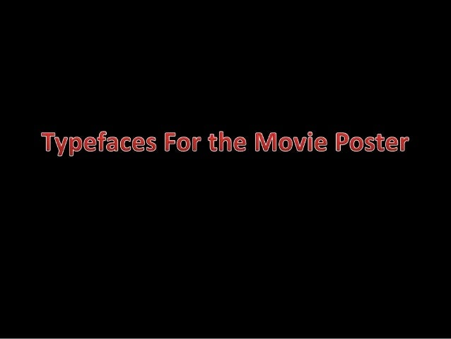 Typefaces for the movie poster
