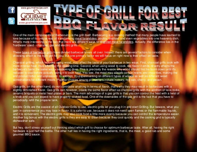 Type of grill for best bbq flavor result