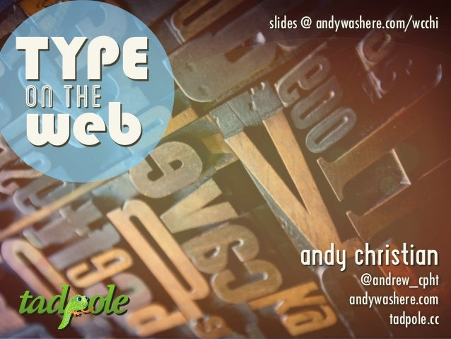 Type on the Web (with WordPress)