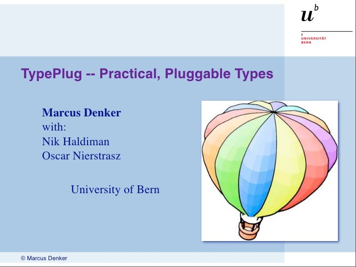 Talk: Practical, Pluggable Types
