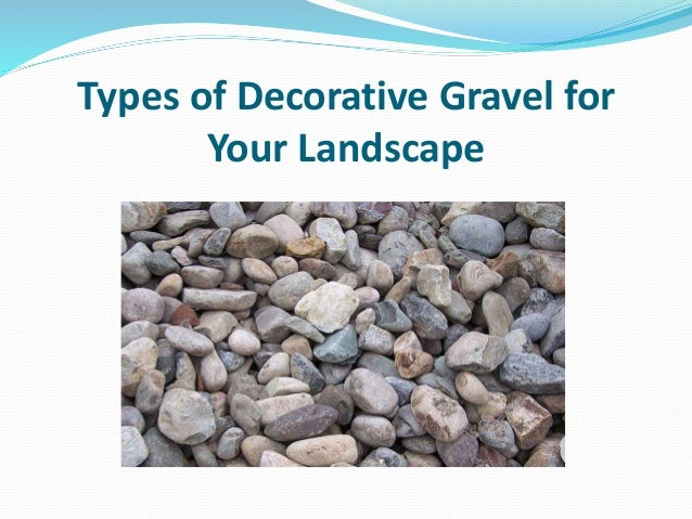 Types Of Gravel : Types of decorative gravel for your landscape