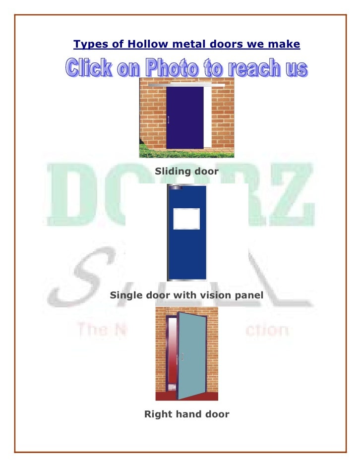 Types of Hollow metal doors we make                   Sliding door           Single door with vision panel                ...