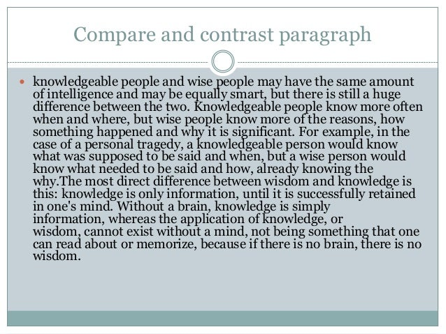 How does a compare and contrast essay look like(stucture wise&number of paragraphs)?