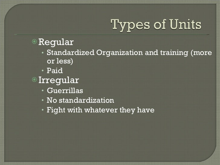 Types  Of Modern Military Units