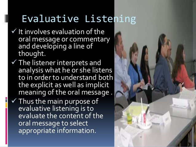 """types of listening theory definition Understanding listening, it discusses the nature and types of listening, some  constraints or  """"no one theory about what listening is"""" (p7) but, still this process  can be defined variously and many definitions can be attributed to this skill."""