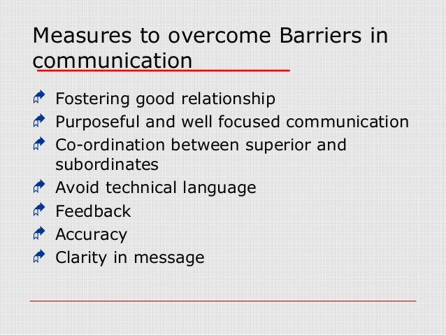 a letter that prevents communication barriers Language barriers to communication not using the words that other person understands makes the communication ineffective and prevents message from being conveyed.