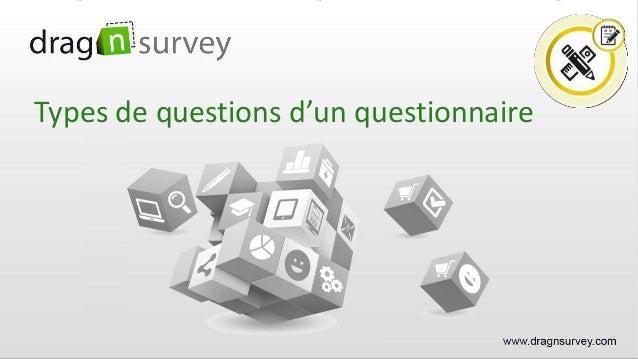Types de questions d'un questionnaire