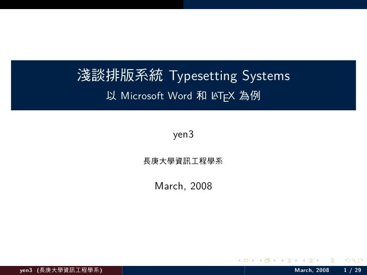 Typesetting Systems              Microsoft Word        LTEX                                    A                          ...